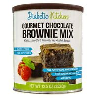 Keto desserts: Diabetic Kitchen Gourmet Chocolate Brownie 23g Mix (2 net carbs)