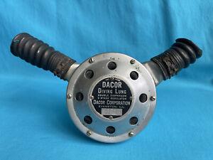 Vintage DACOR Diving Lung Dial-a-Breath Double Hose Scuba 2-Stage Regulator RARE