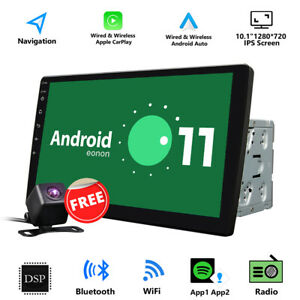 """CAM+In Dash 10.1"""" Latest Android 11 Auto Car Stereo GPS Sat Nav 2Din CarPlay DSP"""