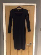 🌸 ASOS Dark Blue Long Sleeve Body Con Dress Size UK 10 🌸