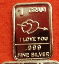 New Whason Mint 1 Gram .999 fine Silver Bars:  U CHOOSE DESIGN FROM LIST !!