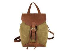 Leder Segeltuch Rucksack Backpack Schultertasche Mädchen Damen Frauen Tasche