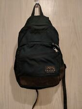 Vintage TRAGER SEATTLE Green Leather HIKING BACKPACK Travel Camping School Bag