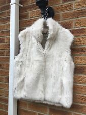 Jack Wills Faux Fur Holtsmere Winter Cream Gilet Size 12