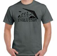 Hang Gliding T-Shirt Hang Glider Evolution Mens Funny Paraglider Paragliding