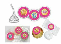 108 Shopkins Birthday Hershey Kiss Labels Favors Stickers Personalized ANY