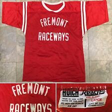 Vintage Fremont Raceways Hutch Reach Co Mesh Jersey Made In Usa L Racing