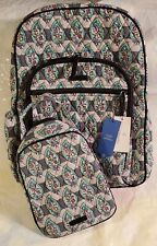 VERA BRADLEY Campus Tech Backpack Lunch Bunch Bag SET College PAISLEY STRIPES