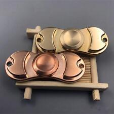 Hand Fidget Brass Copper Metal Spinner Focus Toy EDC Torqbar - Kids/Adults Spinn