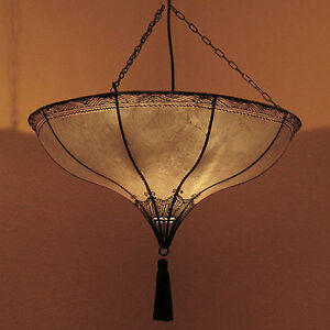 Oriental Henna Lamp Ceiling Light Moroccan Hanging Light Roumia Natural D54
