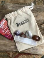 Crystal Intention Tumbled Stone Bag Set w Description & Intention Card