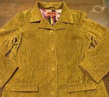 Missoni for Target Corduroy Velvet Jacket Trench Coat Mustard Women's Size M