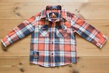 TU Toddler Boys Long Sleeved Checked Lumberjack Cotton Shirt. Age 18-24 Months.