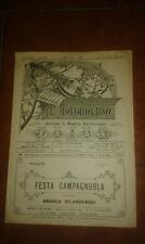 GILARDENGHI FESTA  CAMPAGNUOLA SPARTITO MANDOLA CHITARRA IL MANDOLINO 19 1930