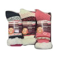 3 PAIRS LADIES SHERPA THERMAL EXTREME HOT WARM THICK SOCKS 4.7 TOG [UK SIZE 4-7]