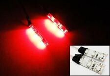2 x Pre-Wired Red 3 LED Self Adhesive Light Strips W/ JST Plugs/Leads