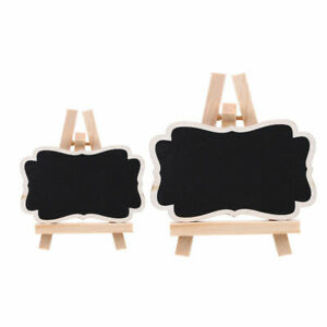 1/8/10x Mini Wooden Chalkboard Blackboard Message Memo Table Sign Wedding Party