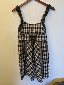 Axes Femme Navy Plaid One Piece Dress