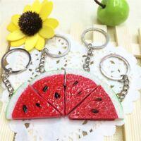 Lovely Watermelon Chunk Slice Keychain Keyring Bag Pendant Key Ring Chain Gift