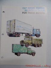 c.1975 Caterpillar Diesel Engine Selection Guide Industrial Catalog Vintage VG