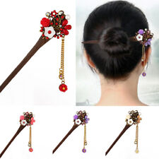 Retro Traditional Wooden Hair Stick Hair Chopsticks Hairpin Tassel Pendant