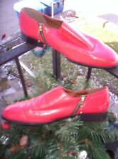 Vintage Giorgio Brutini mens red leather shoes SIZE 12 M ZIPPER SIDES