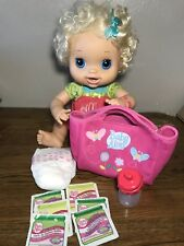 Hasbro 2010 My Baby Alive Doll Real Surprises Eat Drink Wet Pees Interactive