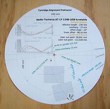AUDIO-Technica AT-LP1240-USB STILO progettata personalizzato allineamento Goniometro