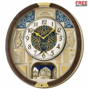 New Seiko Melodies in Motion 2021 Animated Musical Christmas Carol Wall Clock