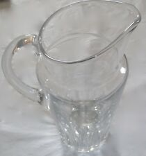 RARE BACCARAT FRANCE CUT CRYSTAL GLASS WATER SERVING PITCHER SIGNED - VERY NICE