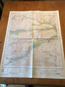 "HUGE 1961 RAF WAR OFFICE & AIR MINISTRY ""LOCH TAY"" (35.5"" x 29.5"") CHART MAP"