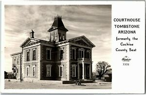RPPC Court House Tombstone AZ Fromer Cochise County Seat Vintage Postcard X37