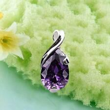 New Crystal Amethyst Healing Point Chakra Bead #L Stone Pendant for Necklace