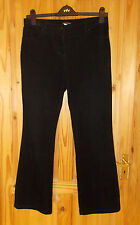 49fffa2eed39e5 New listingMARKS & SPENCER black stretch corduroy trousers jeans cords  BOOTCUT 12 Medium 40