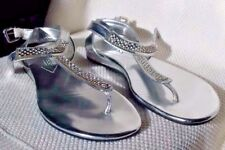 Guess - Sexy Silver with Diamonds Flip Flop Sandals (NWOB)