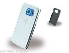 Ferrari GT premium Hard Case bolso funda for Samsung Galaxy s6 920 Silver White