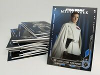 2019 STAR WARS MASTERWORK Blue Parallel Singles You Pick & Complete Your Set