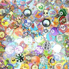 Lot of 100 Pogs / Milk Caps + Slammer Unsorted! Retro Game Nostalgia! Skull Bone