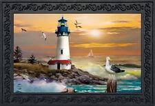 "Sunset Lighthouse Summer Doormat Nautical Indoor Outdoor 18""x30"" Briarwood Lane"