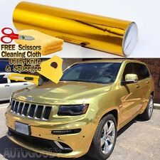 "24"" x 60"" Gold Chrome Mirror Vinyl Film Wrap Sticker Decal Stretchable 2ft x 5ft"