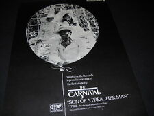 The CARNIVAL 1969 Promo Poster Ad 1st single - SON OF A PREACHER MAN mint cond