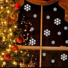 wallstickers natale 14 adesivi vetrine vetrofanie cristalli neve ghiaccio