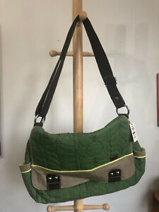 Fossil Green Quilted Fabric Messemger Bag-New with Tags