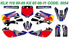 5054 KAWASAKI KLX 110 00-09 KX 65 00-13 Autocollants Déco Graphic Sticker Decal