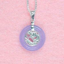 Sterling Silver - Lavender Jade Necklace (NL234)