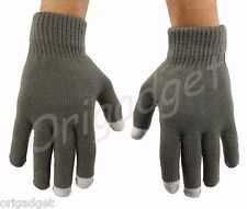 GLOVES TOUCH SCREEN SMARTPHONE IPHONE IPAD IPOD TABLET CONDUCTIVE GLOVES grigiSM