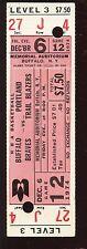 1974 NBA Regular Season Game Full Ticket-Trailblazers @ Buffalo Braves