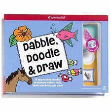 American Girl Dabble, Doodle and & Draw New Stickers Cards Labels Saige Grace