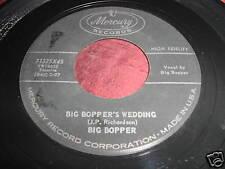 BIG BOPPER - BIG BOPPER'S WEDDING - EARLY ROCK 45