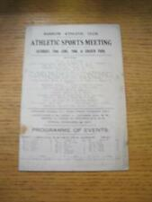 More details for 22/06/1946 at barrow rfc: barrow athletic club - sports meeting (4 pages, folded